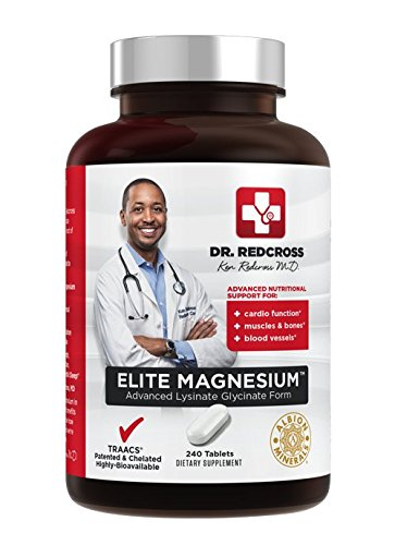Dr. Ken Redcross, MD - Elite Magnesium - 240 Tablets Advanced Lysinate Glycinate Chelate TRAACS Patented | Highly Bioavailable (Tablets Glycinate 240)