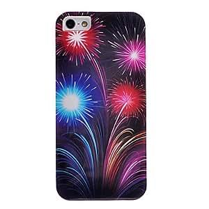 Elegant Fireworks Pattern Back Case for iPhone 5/5S