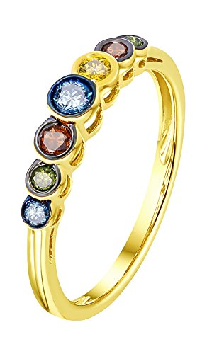 Yellow Diamond Rings - 9