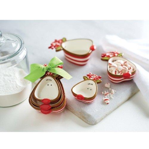 Mud Pie Holiday Reindeer Measuring Cup Set
