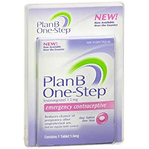 Plan B One-Step Emergency Contraceptive Tablet - 1 Tablet, Pack of 3