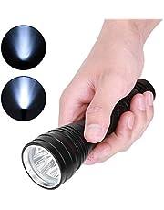 Jadpes Linterna LED de Mano, Resistente al Agua Potente Linterna de Emergencia LED de Mano con 5 Modos para Acampar al Aire Libre Senderismo Viajar