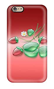 For Iphone Case, High Quality Aqua Strawberries For Iphone 6 Cover Cases Sending Screen Protector in Free