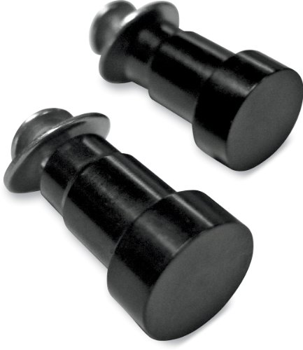 Joker MacHine Mirror Hole Plugs for OE Controls Pair Black Anodized for Tri All