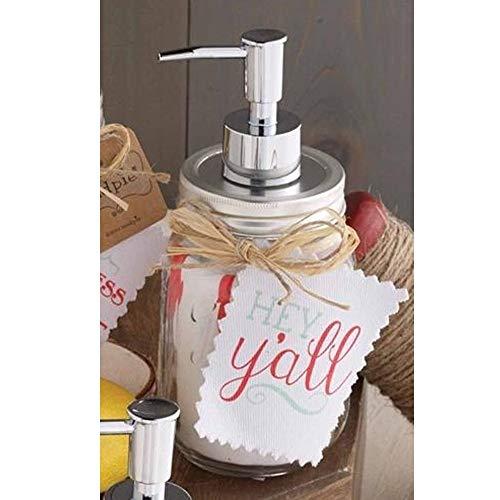 Mud Pie Countertop Soap Dispenser with Towel Set