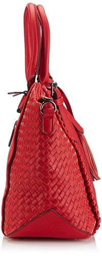 Saccess DY1526 - Bolso de hombro de piel sintética mujer Rojo (Red)