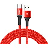 Baseus CATGH-B09 Halo Data Kablo, Type-C, 3A, 1M, Kırmızı