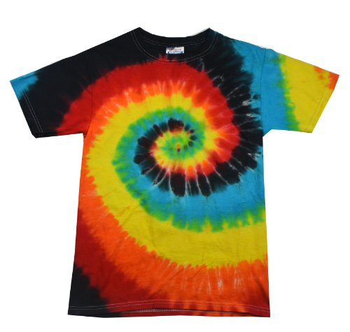 Tie Dyes Men's Tie Dyed Performance T-Shirt H1000 Swirl-eclipse-xxxl (70s Outfits For Men)