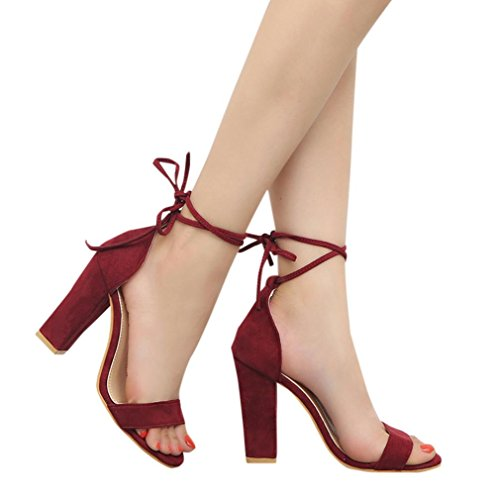 Jamicy Femme Bordeaux Bride Sandals Cheville wAxOqr0HA