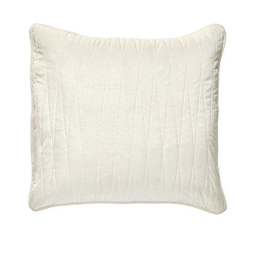 Brielle Premium Heavy Velvet Square Sham, Euro, Off White