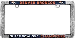 Amazon.com : Denver Broncos Super Bowl 50 Champions Chrome License ...