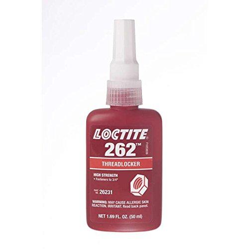 262 Threadlocker, Medium to High Strength, 50 ml Bottle