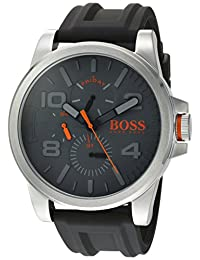 BOSS Orange Men's 'DETROIT SPORT' Quartz Stainless Steel and Silicone Casual Watch, Color:Grey (Model: 1550007)