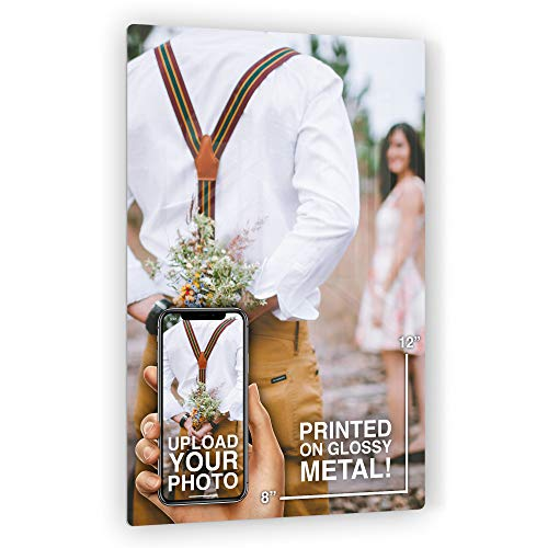 Anvevo 8x12 Custom Metal Photo Print Metal Picture Prints of Your Photo
