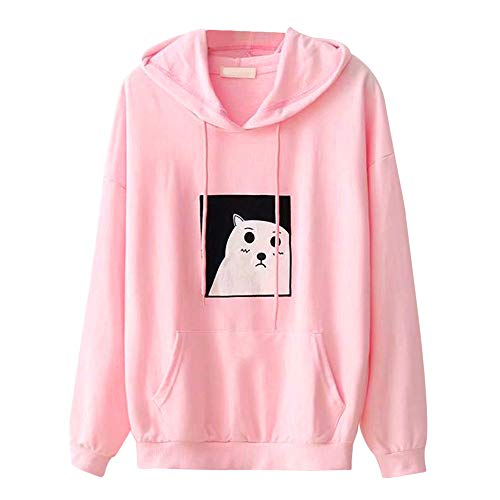Hoodies for Teen Girls, Corriee Women Casual Splice Warm Hooded Jacket Coat Fall Letter Print Cute Sweatshirts Pullover