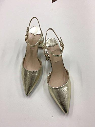 belle 37 primavera sandali cinghie sono le tacchi alti affilato la ZHANGJIA e e l'estate feste le d'oro baotou superficiale bocca golden scarpe tacco donne qBvRwB5x