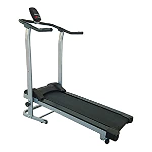 Sunny Health & Fitness SF-T1408M Manual Walking Treadmill, Gray by Sunny Distributor Inc.
