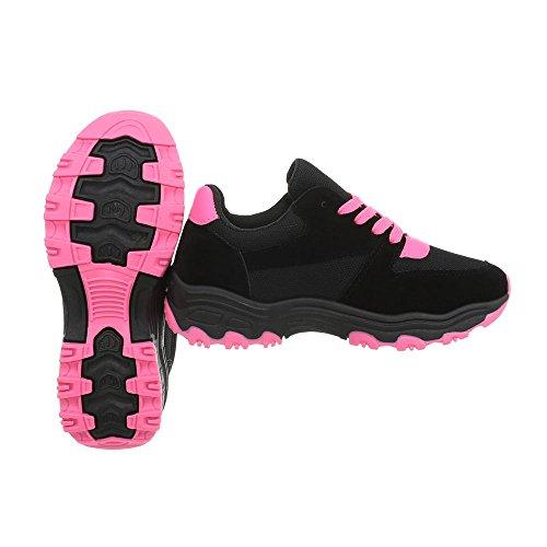 Chaussures Baskets Sneakers Low Espadrilles Plat Pointure Mode 39 Femme Noir nxPUrBn