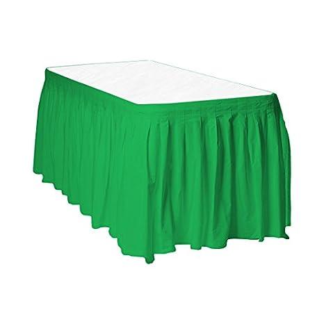 PARTYRama Esmeralda Verde Plástico Tabla Falda - 426 cm x 73 cm ...