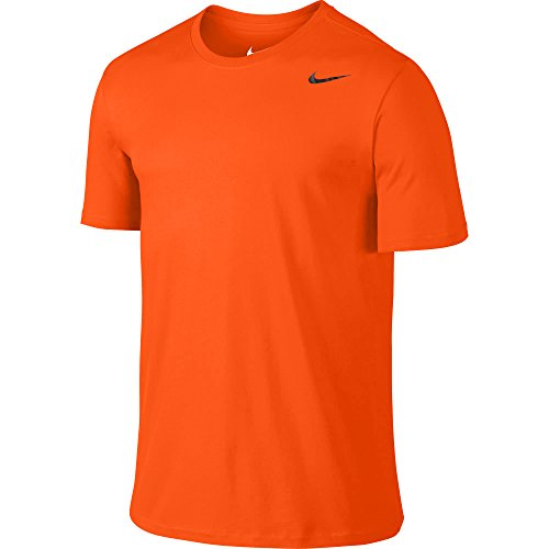 NIKE Men's Dri-FIT Cotton 2.0 Tee, Team Orange/Team Orange/Black, XX-Large Tall Tall by NIKE