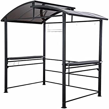 8 X 5 Denver Steel Hardtop Grill Gazebo With Polycarbonate Roof