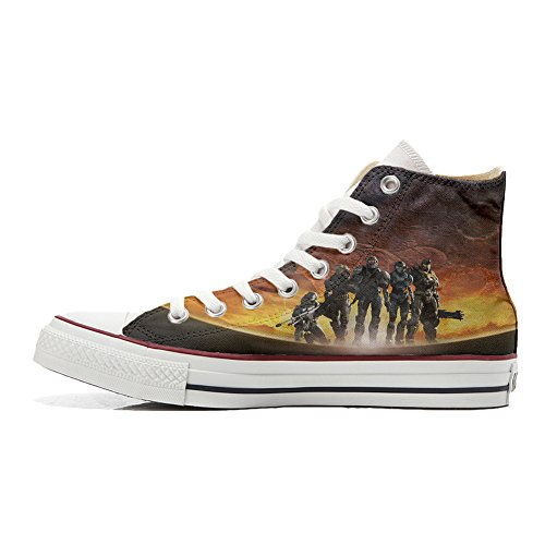 Guerra la Soldados Personalizados All Artesano Converse Star en Customized Zapatos Producto qvzx16Hw