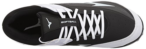 Finch Women's Black Elite MIZD9 Advanced Mizuno Softball 3 9 Cleat White Spike Fastpitch Shoe AHf5x7wXq