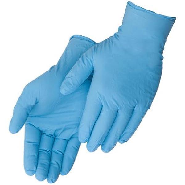 Black Nitrile Grippaz LARGE Gloves Heavy Duty Frontier Disposable Skins 200pcs