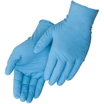Liberty Glove – Duraskin - T2010W Nitrile Industrial Glove, Powder Free, Disposable, 4 mil Thickness, Small, Blue (Box of 100)