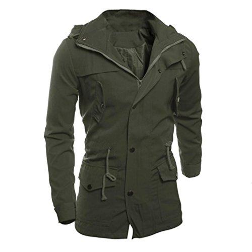 Di Sottile Green Del Uomini Casuale Soprabito Rivestimento Army Outwear Modo Koly gli Il UqpnxSUH