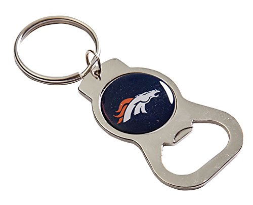 Denver Broncos Team Logo Bottle Opener Key Ring ()