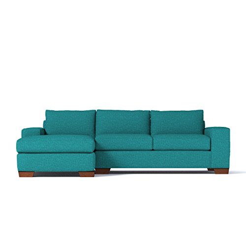 Apt2B Melrose 2-Piece Sectional Sofa, Ocean Blue, LAF – Chaise on Left Review