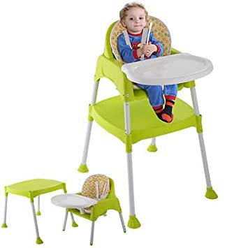 Amazon.com  3 in 1 Baby High Chair Convertible Table Seat Booster Toddler Feeding Highchair  Baby  sc 1 st  Amazon.com & Amazon.com : 3 in 1 Baby High Chair Convertible Table Seat Booster ...