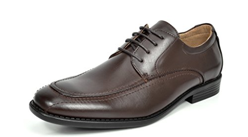 05 Mens Modern Bruno DP Lace Dress Lined Shoes Formal Oxford dark Up Leather Classic Brown Marc OwIHEIq4x