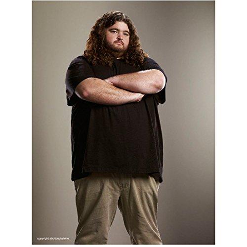 Lost Jorge Garcia as Hugo Hurley Reyes Posing Arms Crossed in Black T-Shirt 8 x 10 inch ()