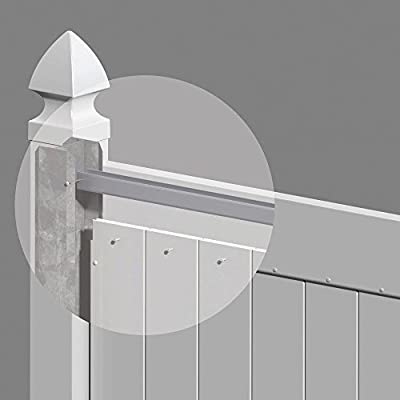 5 in. x 5 in. x 106 in. Metal Wind Load Adapter Fence Post Kit