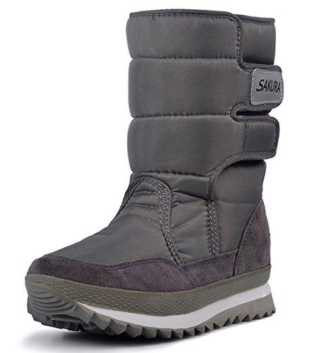 Gray Frosty DADAWEN Boot Snow Women's Waterproof gEwqv7