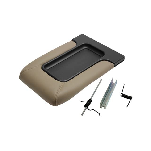Factory Replacement Center Console Seat Lid 99 06 Chevy Silverado, GMC Sierra, 00 06 Suburban, Tahoe Yukon   Beige