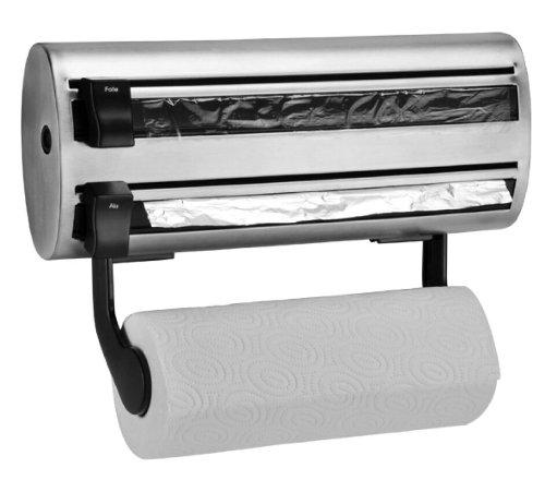 Küchenrollenhalterung, Rollenhalter, Folienspender, Schneideabroller