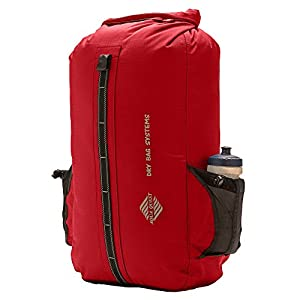 Aqua Quest SPORT 30 Red Waterproof Backpack Protects Laptop for Bike, Motorcycle, Boats, School, Students