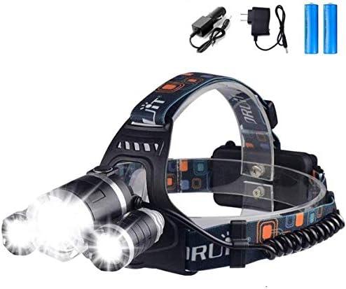 USB Recargable Linterna de Cabeza con 10 Modes de Luz 800 Ll/úmenes Excursi/ón Sensor de Movimiento Impermeable L/ámpara de Cabeza para Ni/ños Adultos Camping Pesca WINDFIRE Linterna Frontal LED