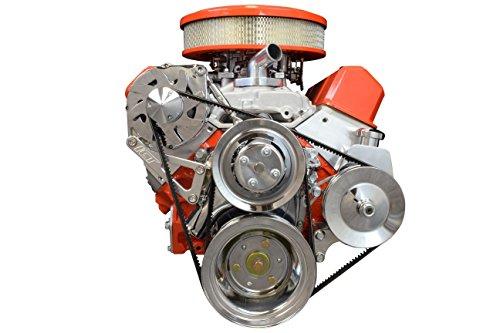 - SBC Billet Adjustable Alternator Power Steering Bracket Kit LWP Chevy Small Block 551476