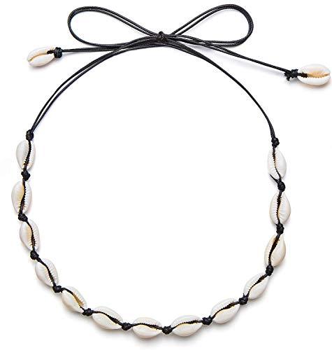 Lemongallery Natural Shell Beads Adjustable Necklace Hawaii Wakiki Beach Choker Adjustable Ladies