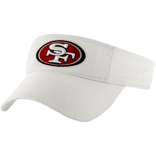 '47 NFL San Francisco 49ers Clean Up Adjustable Visor, One Size, White