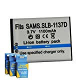 Samsung LSB-1137D Replacement Battery for Samsung Digimax i80, i85, i100, L74, and Samsung Camcorders