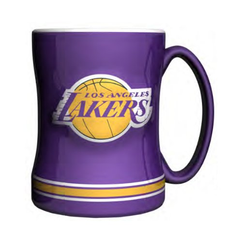 NBA Los Angeles Lakers Sculpted Relief Mug, 14-Ounce (Collection Mug Breakfast)