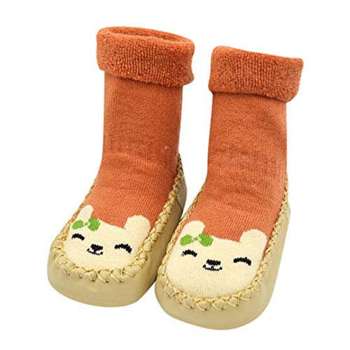 ♡QueenBB♡ Infant Baby Cartoon Patterned Soft Rubber Bottom Anti-Slip Floor Socks Boots Breathable Cotton Shoes - Quilt Vortex