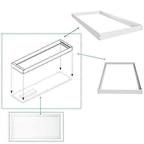 Hykolity Surface Mount Kit for 2x4 feet LED Troffer Flat Panel Drop Ceiling Light