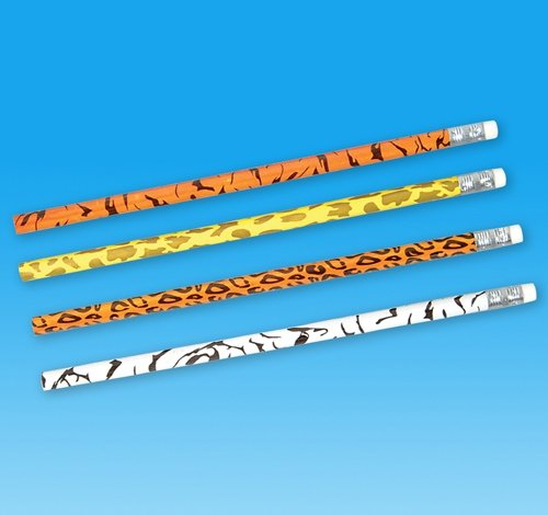 7.5'' Assorted Animal Print Pencil, Case of 720