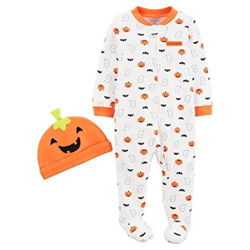 Just One You by Carter's Baby Pumpkin Sleep N' Play and Hat Set (Halloweeen City)